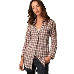 Free People Studded Flannel Shirt